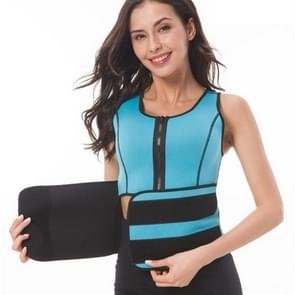 Neopreen Corset Yoga Vest Sweat Suit Postpartum Belly Belt  Grootte: L (Sky Blue)