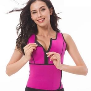 Neopreen Corset Yoga Vest Sweat Suit Postpartum Buikriem  Grootte: XXXL (Rose Red)