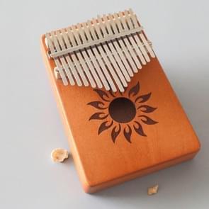 17-tone Kalimba Portable Thumb Piano  Style:Mahonie-Sun God