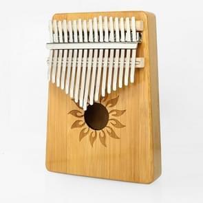 17-tone Kalimba Portable Thumb Piano  Style:Nan Bamboo-Sun God