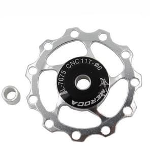4 PCS MEROCA Metalen lagers Mountainbike Racefiets achter derailleur geleidewiel 11T/13T Geleidewiel  Specificatie:11T  Kleur:Zilver
