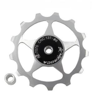 4 PCS MEROCA Metalen lagers Mountainbike Racefiets achter derailleur geleidewiel 11T/13T Geleidewiel  Specificatie:13T  Kleur:Zilver