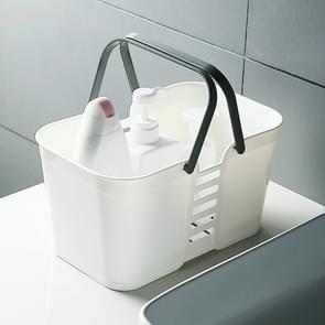 3 PCS Draagbare Bad mand toiletartikelen Opbergbox (Wit)