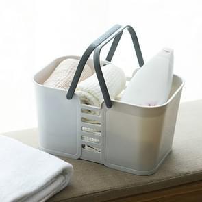 3 PCS Portable Bad Basket Toiletartikelen Opbergbox (Grijs)