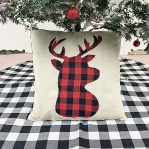 Kerstversiering kussen kussen cover kerstbank knuffelen kussensloop (Elanden)