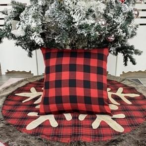 3 PCS kerstversiering Plaid Hugging Pillow Case Simple Home Decoration Sofa Pillow Pillow Cover (Black Red)