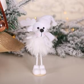 2 PCS kerstversiering Zilveren Zijde Pluche Staande Doll Window Sneeuwpop decoratie (TS40 Bear)