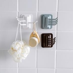 10 PCS sterke Viscose badkamer wandplank zonder perforatie traceloze roterende haak  willekeurige kleur levering