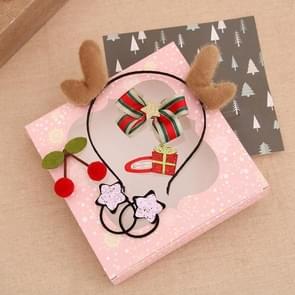 2 Sets Christmas Head Buckle Headband Gift Box Christmas Gift Set Kinderen Gift (Brown Geweien)