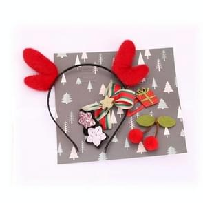 2 Sets Christmas Head Buckle Headband Gift Box Christmas Gift Set Kinderen Gift (Red Geweien)