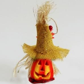 2 PCS Halloween Pumpkin Lantern Hollow Glowing Foam Bar Decoratie (Yellow Hat)