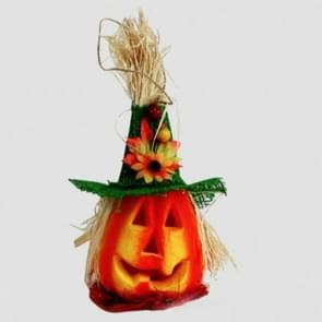 2 PCS Halloween Pumpkin Lantern Hollow Glowing Foam Bar Decoratie (Groene Hoed)