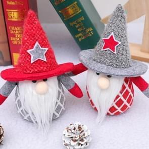 2 PCS Kerstversiering Faceless Doll Kerstcadeau Speelgoed (Grey Hat)