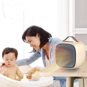 Smart Mini Heater Home Desktop Small Heater  CN Plug (Metal Mesh-Beige)