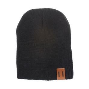 Winter hoed baby zachte warme muts Cap (zwart)