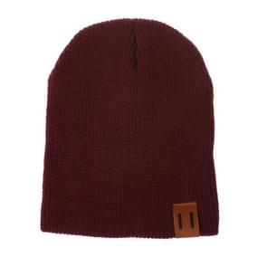 Winter hoed baby zachte warme muts Cap (donkerrood)