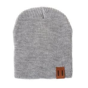 Winter hoed baby zachte warme muts Cap (grijs)