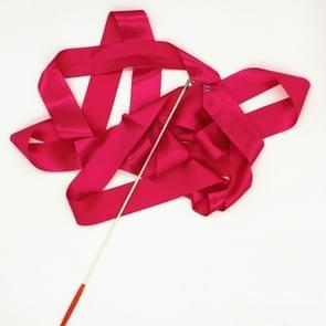 5 PCS 4 m Artistic Color Gymnastics Ribbon Dance Props Children Toys(Rose Red)