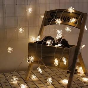 10Leds kerstboom sneeuwvlokken LED string fee licht Xmas Party Home bruiloft tuin Garland kerst LED verlichting decoratie (warm wit)