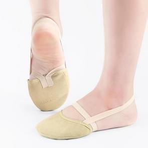 Ritmische gymnastiek schoenen zachte halve sokken Ballroom art gym accessoires Ginastica elastische dans schoenen gymnastiek kaki kleur (L (38-41))