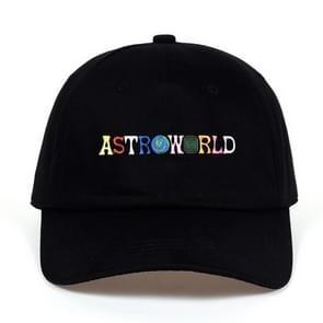 ASTROWORLD papa Hat 100% katoen hoge kwaliteit borduurwerk Baseball Caps Unisex Travis Scott(Black)