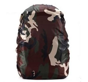 Waterproof Dustproof Backpack Rain Cover Portable Ultralight Outdoor Tools Hiking Protective Cover 35L(Camouflage)
