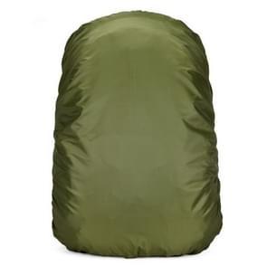 Waterdichte stofdicht rugzak Rain Cover draagbare ultralichte buiten Tools wandelen beschermhoes 45L (Arm groen)