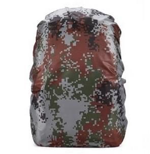 Waterdichte stofdichte rugzak regenhoes draagbare Ultralight outdoor tools wandelen beschermende cover 80L (digitale camouflage)