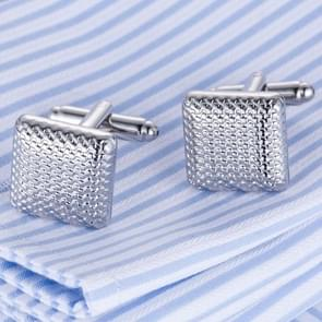 1 pair Plain metal pattern cufflinks