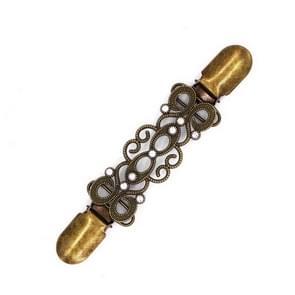 Vest Clip trui omslagdoek Clip houder kraag Duck-mond Clip (antiek brons verguld)