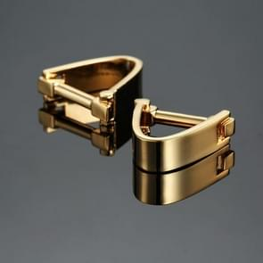 1 Pair V-shaped Metal Cufflink(Gold)
