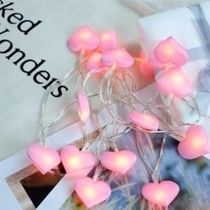 LED Fairy lichten liefde hart lantaarn navidad String Lights Vakantiewoningen verlichting slaapkamer huis decoracion 3m 20LEDs (roze)