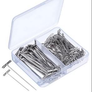 T-Needle combinatie dubbele specificatie combinatie pruik Fixing  grootte: 38mm-100 stuks + 51mm-50 stuks