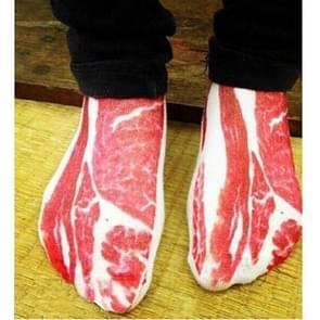 3Pairs 3D patroon korte gedrukte sokken Cartoon rechte Dames zomer boot Socks(Fleshy)