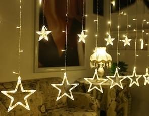 220V EU plug LED Star licht Kerstverlichting binnen/buiten decoratieve liefde gordijnen lamp voor vakantie bruiloft partij verlichting (warm wit)
