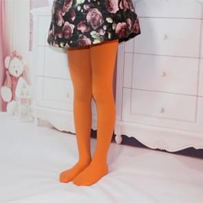 Lente zomer herfst effen kleur panty ballet dans Panty's voor kinderen (oranje)