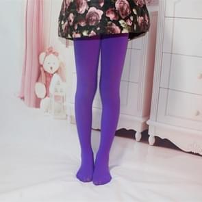 Lente zomer herfst effen kleur panty ballet dans Panty's voor kinderen (paars)