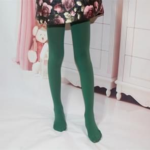 Lente zomer herfst effen kleur panty ballet dans Panty's voor kinderen (donkergroen)
