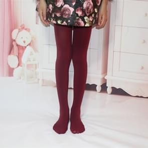 Lente zomer herfst effen kleur panty ballet dans Panty's voor kinderen (wijn rood)
