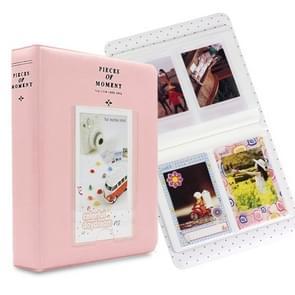 64 zakken naam kaart stukken voor Fujifilm Instax Mini 8/7s/70/25/50s/90 (roze)