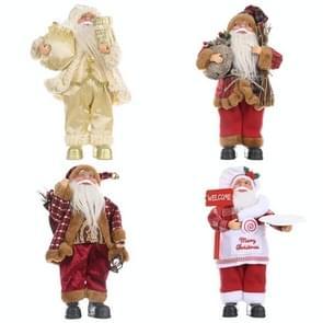 Kerstversiering Permanent Santa Claus Doll Kerstrugzak Old Man Doll Ornaments  Specificatie: Chef-kok