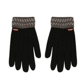 Winter handschoenen kinderen klassieke meisjes jongens winter warme handschoenen (zwart)