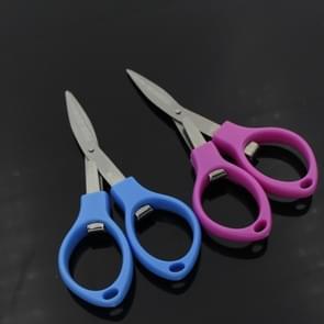 Roestvrijstalen opvouwbare Mini schaar tool (willekeurige kleur levering)