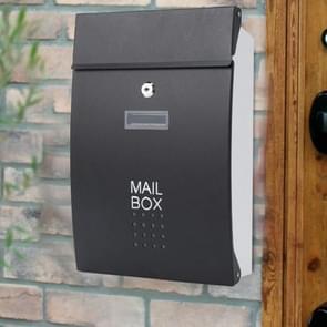 Residentiële voordeur buiten muur gemonteerde mailbox verticale Lock mailbox  stijl: zwarte deur witte doos