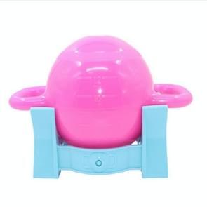 Vrouwelijke yoga fitness Dumbbell waterinjectie waterkoker Bell dubbele oor handvat ketel Bell sportuitrusting (Rose rood + basis)