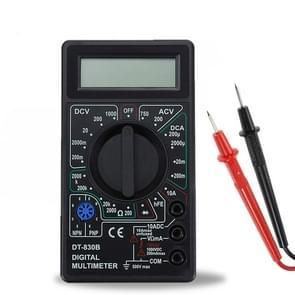 DT-830B handheld digitale multimeter ampèremeter voltmeter digitale display universele tester meter (zwart)