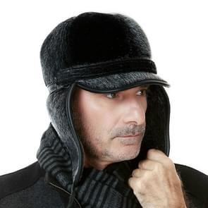 Herfst en Winter Imitatie Mink Fur Warm Bombrt Hoeden Flight Cap voor mannen van middelbare leeftijd  Grootte:L(58-60cm)(Grijs)