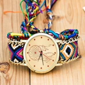 177 Ethnic Style Hand-woven Multi-color Belt Watch(9th color chase Dreamer (with a hand strap))