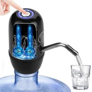 USB snel opladen elektrische automatische pomp dispenser dubbele motor fles drink water pomp (zwart)