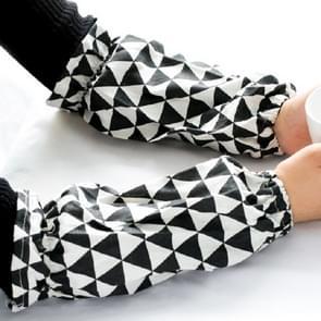 Zwarte driehoek Katoen en Linnen Schilderij Volwassen Lange Anti-fouling Manchetten Huishoudelijke mouwen